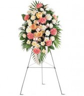 TELEFLORA'S GENTLE THOUGHTS Sympathy Spray in Conroe, TX | FLOWERS TEXAS STYLE