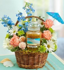 Yankee Candle Sun and Sand Basket Gainesville Delivery Only