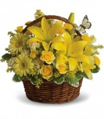 YELLOW BASKET w/buttterfly