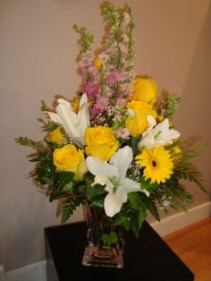 Yellow's & Pink's Vase Arrangement