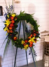 You Will Be Remembered Standing  Open Wreath