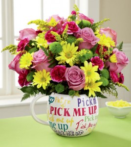 Pick Me Up Bouquet Two Gifts In One In Springfield IL
