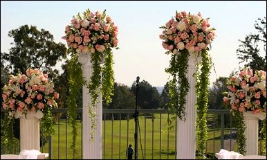 columns for wedding decorations romantic decoration