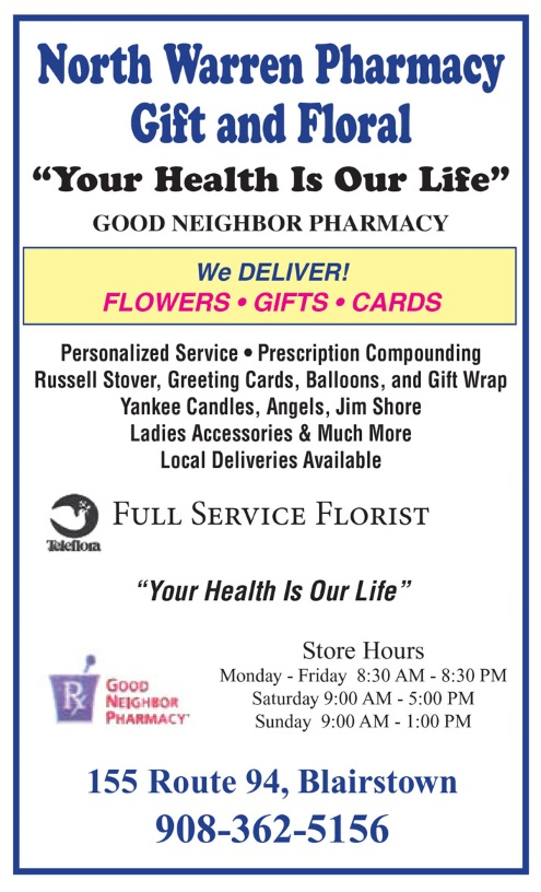 Thank You For Visiting Our Website Flowers Delivered Fresh From A Local Blairstown New Jersey Flower Shop North Warren Pharmacy Gift Floral