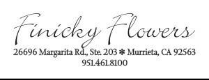 FINICKY FLOWERS