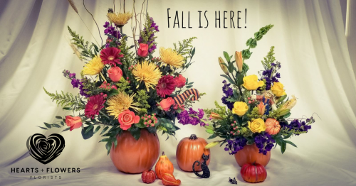 Coral springs florist coral springs fl flower shop hearts autumn colors are beautiful mightylinksfo